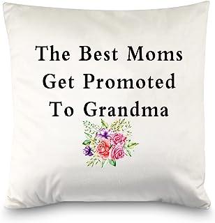 PXTIDY 新奶奶礼物 *好的妈妈被晋升到奶奶 *好的抱枕套 婴儿公告礼物 送给祖母(*好的妈妈)