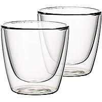 Villeroy&Boch 唯宝 Artesano 热饮玻璃杯:中号2件套,3英寸(约7.6厘米),水晶玻璃,透明色
