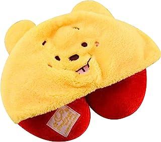 Finex 可爱小熊旅行颈枕,带帽衫,适用于汽车飞机飞行长途骑行