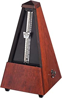 Wittner 801 Wood Case Metronome without Bell, Gloss Mahogany