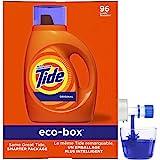 Tide 液体洗衣液生态盒,原味,105 液体盎司,96 次