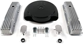 Vintage Parts 333923 SBC Blk Caddy AC/Tall Finned Engine Dress Up Kit~w/Breathers (PCV),1 包