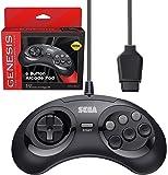 Retro-Bit 官方 Sega Genesis 控制器 6 键街机垫 适用于 Sega Genesis - 原装端口…