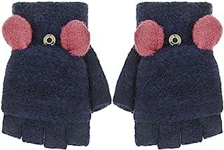 无指手套 女式针织保暖滑雪滑雪纹手套 手套