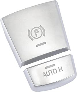 X AUTOHAUX 汽车停车制动开关 P 按钮保护盖贴纸套装适用于宝马 X3 X4 X5 X6 X7 2011-2017