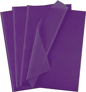 Ruisita 60 张纸巾礼品包装纸散装艺术纸巾礼品包装配件工艺纸装饰纸生日派对家庭,深紫色