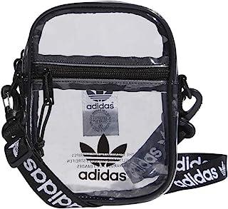 adidas 阿迪达斯原装透明节日斜挎包,黑色,均码