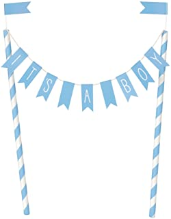 Unique Party 73390 蓝色婴儿沐浴派对蛋糕装饰 1 件