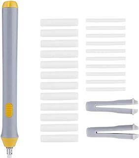 Zerodis 电动橡皮擦电池自动铅笔橡皮擦,带 22 个橡皮擦替换装(灰色)