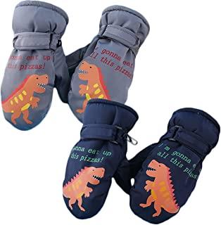 儿童冬季滑雪手套,男孩女孩的滑雪手套,大孩子雪橇手套