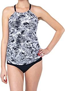 Oceanlily Halter 女式泳衣分体泳衣上衣花卉黑色
