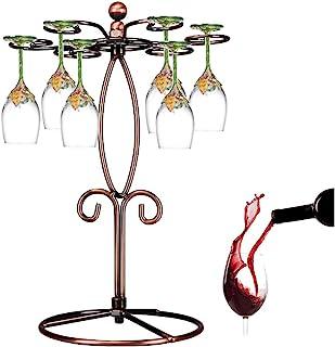 黑色金属独立式桌面高脚杯储物架/酒杯架