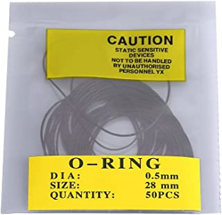 AUNMAS 950 件通用橡胶 O 形环密封圆形黑色手表后盖密封替换垫圈修理套件适用于家庭(0.5 毫米)