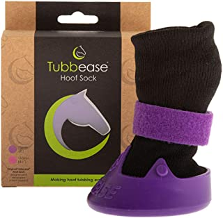 TUBBEASE Hoof 浸泡靴 - 马蹄护理 - 基本马匹护理设备 - 呼啦袜 7.62 厘米(紫色)