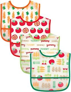Luvable Friends 美国熊宝宝婴儿4件装PEVA口水巾 02094粉红色