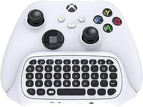 适用于 Xbox 系列 X / 系列 S / Xbox One/S 控制器游戏手柄的无线控制器键盘,2.4Ghz 迷你 QWERTY 控制器键盘游戏聊天板,带音频/耳机插孔,适用于 Xbox 系列 X/S 控制器
