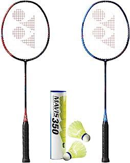 YONEX Astrox Smash(2 个球拍)和 1 管 Mavis 350 羽毛球组合套装