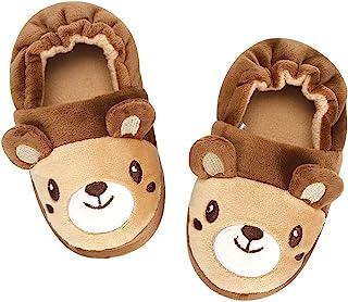 KAKU NANU 幼儿婴儿拖鞋可爱动物卡通鞋女孩男孩保暖羊毛冬季家用拖鞋