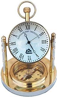 Hampton Nautical WC-1431 实心黄铜钟带指南针 12.7 厘米 - 航海装饰 - 航海家居装饰