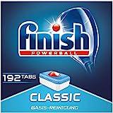 Finish Classic 洗碗机用洗涤块 无磷酸盐 洗涤块带有Powerball清洁球,适用于碗碟基础清洁 3个月用…