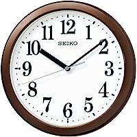 Seiko 精工 挂钟 电波模拟 小巧尺寸 金属茶色 直径28.0x4.6厘米 BC416B
