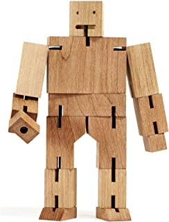 Areaware Cubebot 中号 天然木