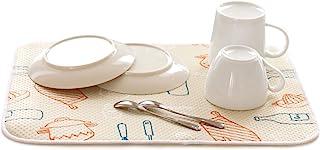 OKA 沥水吸水垫 约30厘米×40厘米 米色(厨房) (排水垫 沥水垫 餐具干燥垫)