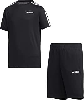 adidas 阿迪达斯儿童 Yb Tr 3s 套装黑/白裤