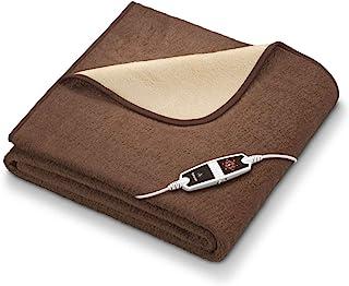 Beurer 博雅 HD 100 热毯 超大 200 x 150 厘米 6 档温度档位 自动关机 可机洗 棕色/米色
