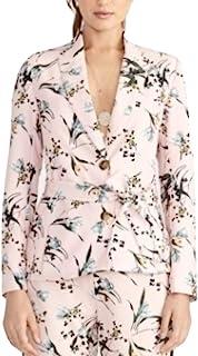 Rachel Roy Calli 印花束腰西装,2月茶玫瑰组合,尺寸 1d2