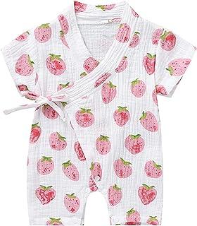 Jurebecia 婴儿和服睡袍新生儿棉质纱连衫裤婴儿日式睡衣 0-18 个月