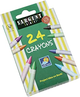 Sargent Art 55-0924 24 支常规蜡笔,可剥离