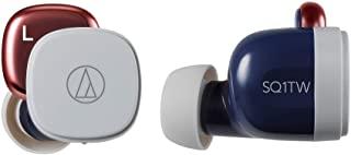 audio-technica 无线耳机 低延迟 防水・防滴规格 支持快速充电 *大约19.5小时播放 藏青红 ATH-SQ1TW NRD