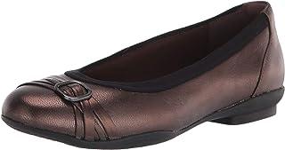 Clarks 女士 Sara Tulip 芭蕾平底鞋