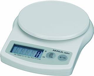 Maul 1645002 信秤 MAULalpha 塑料 电池 承重 5000 克 白色 1 件