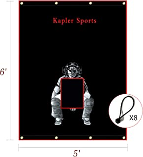 Kapler 棒球/垒球防水布后挡击球笼目标带弹力 5X6