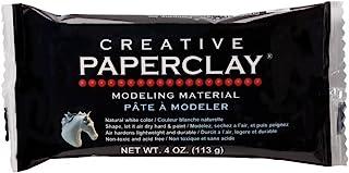Creative Paperclay 用于制模彩泥,4 盎司,白色 白色 1-包每包 1 条 813