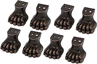 Sourcingmap® 家具木质外壳锌合金虎爪设计脚角保护器 8 件