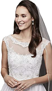 帕萨特大教堂水晶婚礼面纱镶边水钻 223