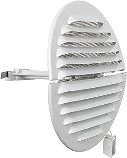 通风 GABDF125R 通风格栅圆形折叠铝漆白色昆虫网直径150毫米