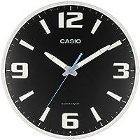 CASIO 卡西欧 挂钟 电波模拟波校正器 蓄光 指针 黑色 IQ-1009J-1JF 黑色 30.8×30.8×5.6…