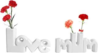 Vencer Love Mum 陶瓷套装花花瓶,小花蕾花瓶,装饰花瓶,VHV-002