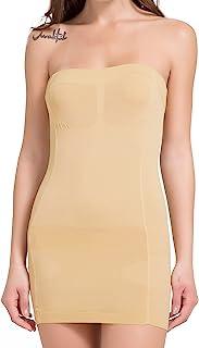 MISS MOLY 女式无缝全身吊带连衣裙平滑收腹塑身内衣无肩带抹胸连衣裙