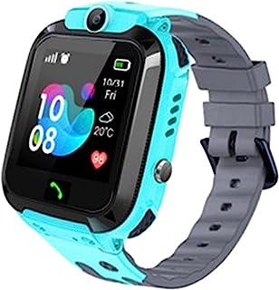 SmartWatch 儿童 GPS 追踪器 - IP67 防水智能手表,带 SOS 语音聊天相机手电筒闹钟数字腕表智能手表,4-12 女孩男孩生日礼物