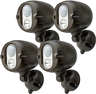 Mr. Beams MBN356 NETBRIGHT Wireless 200-Lumen LED Motion-Sensor Perimeter Activating Spotlight, 6-Pack, Brown