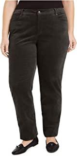 Charter Club 女式棕色灯芯绒纯色裤子尺码 22W
