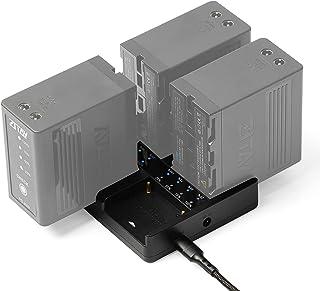 ZITAY 4 Bay 相机电池充电器 4 端口智能 PD 快速充电器 4 插槽同时充电集线器 快速充电器 兼容索尼 NP F970、F550、F570、F750、F980、F770、F960、F530、F330、6KPRO