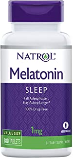 Natrol Melatonin Tablets, 1mg, 180 Count