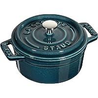 Staub 珐宝 迷你铸铁锅 1101037 10cm,海蓝色