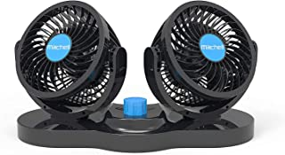 12V 汽车风扇,AOWOSA 冷却空气风扇强大的仪表板电动汽车风扇点烟器低噪音 360 度旋转,适用于卡车车辆船只 SUV RV
